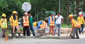 clark road widening construction 1