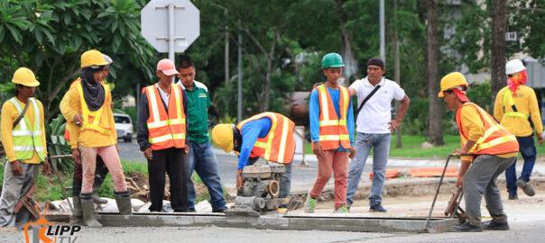 clark road widening construction 1
