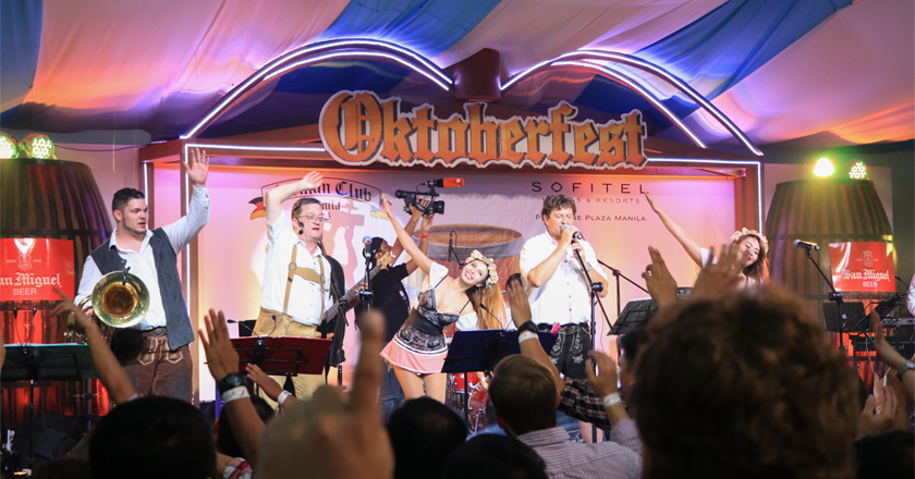 Band Playing at the stage Oktoberfest