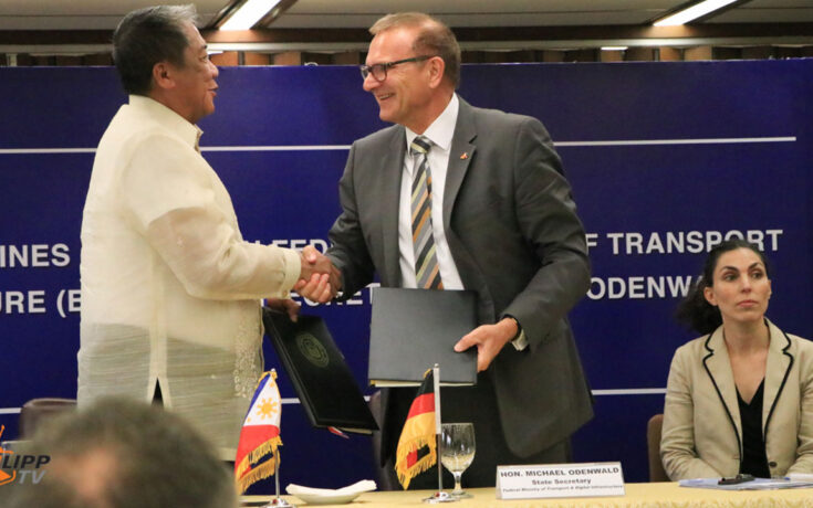 Sec. Michael Odenwald with Sec. Arthur Tugade