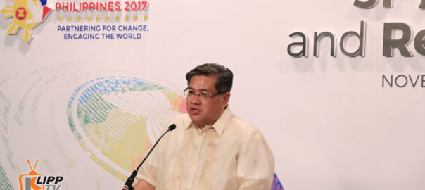 Man speaking in ASEAN 2017