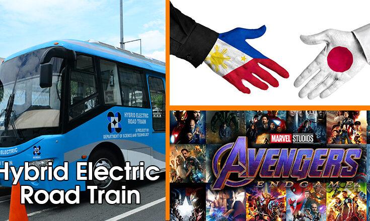 Hybrid electric train, Philippines-Japan, Avengers Endgame