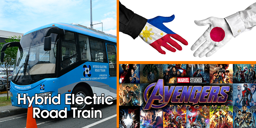 Hybrid electric train, Philippines-Japan, Avengers Endgame