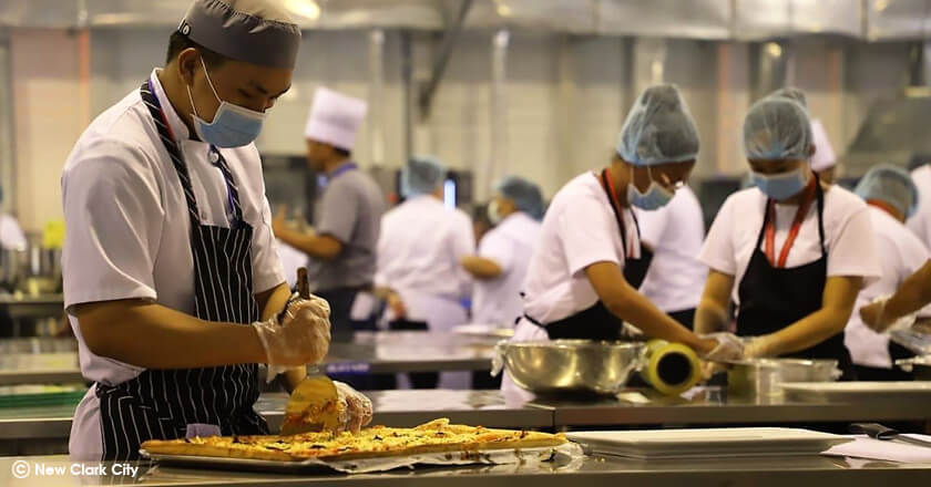 pizza making in sea games