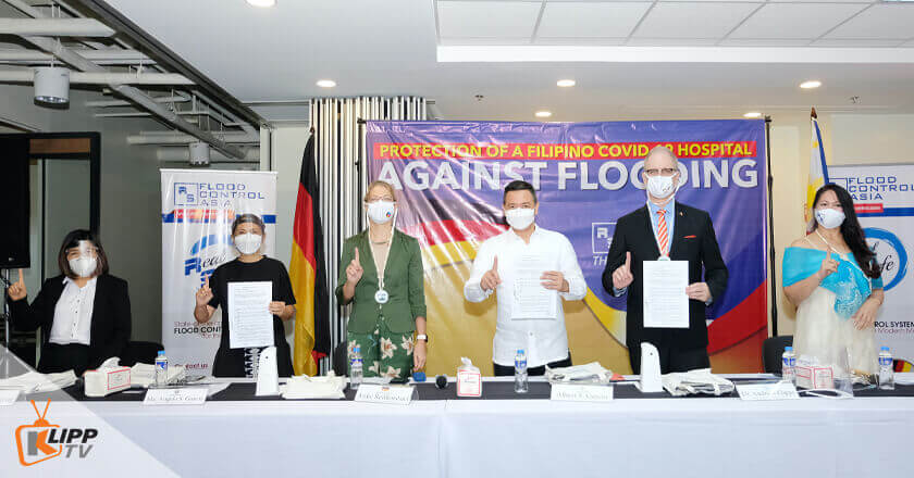 From Left to Right) OIC of JCPMDH Dr. Melinda Layug, Dinalupihan Mayor Gina Garcia, German Ambassador to the Philippines Her Excellency Anke Reiffenstuel, Bataan Governor Albert Garcia, RS Pres. & CEO Andreas Klippe, and RS Executive Vice President Ma. Fatima Usi attended the Press Conference for the Flood Protection Project of JCPMDH., Dinalupihan Bataan hospital